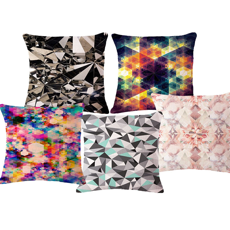 Creative Geometric Cushion Cover Colorful Decorative Throw Pillows Case Chair Seat Home Decor Pillow Textile Gifts