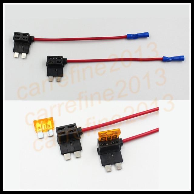 2pcs add a circuit standard blade fuse box holder dual circuit rh aliexpress com Bussmann Fuse Tap Auto Fuse Tap