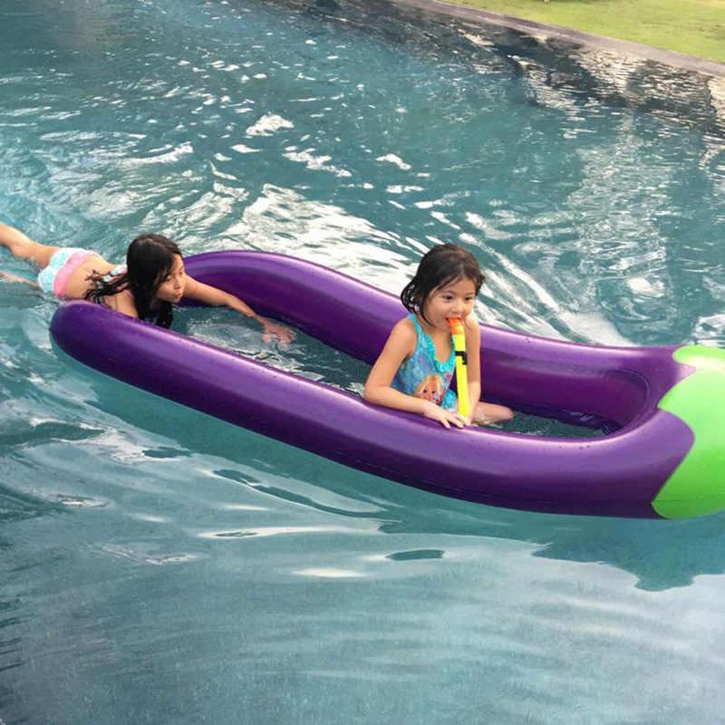 نفخ الباذنجان صالة كرسي فلامنغو السباحة تعويم بركة تعويم ل الكبار أنبوب طوف طفل طوافة بلاستيكية للسباحة الصيف لعبة الماء