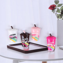 10Pcs/Lot Rainbow Coffee Cup Polymer Slime Charms Modeling Clay DIY Kit Accesorios Box Toy For Children Slime Supplies(China)