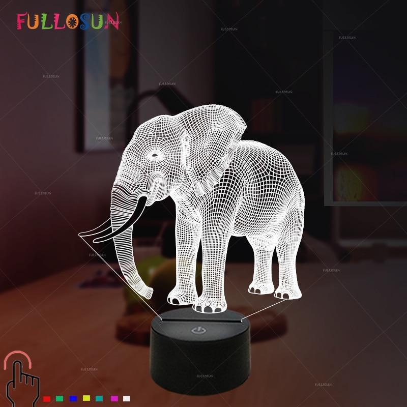 Led Lights Ender 3: Gift Lights Elephant 3D LED Night Lights Novelty LED