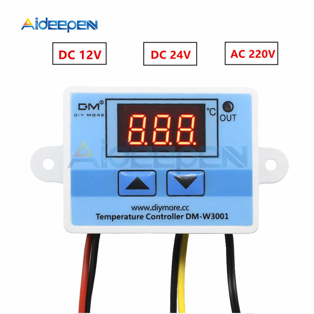 W3001 220V 12V 24V Digital Temperature Controller Thermostat Thermoregulator Aquarium Incubator Water Heater Temp Regulator