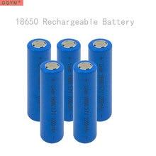 Chata para Banco de Potência Gqym 5 PCS 18650 Bateria 3.7 V 2200 MAH Recarregável Li-ion Cabeça Levou Lanterna DA