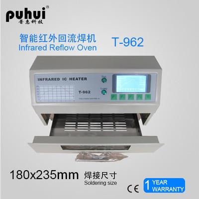 Hot sell In Stock PUHUI T 962 800W Infrared IC Heater Desktop Reflow Solder Oven BGA