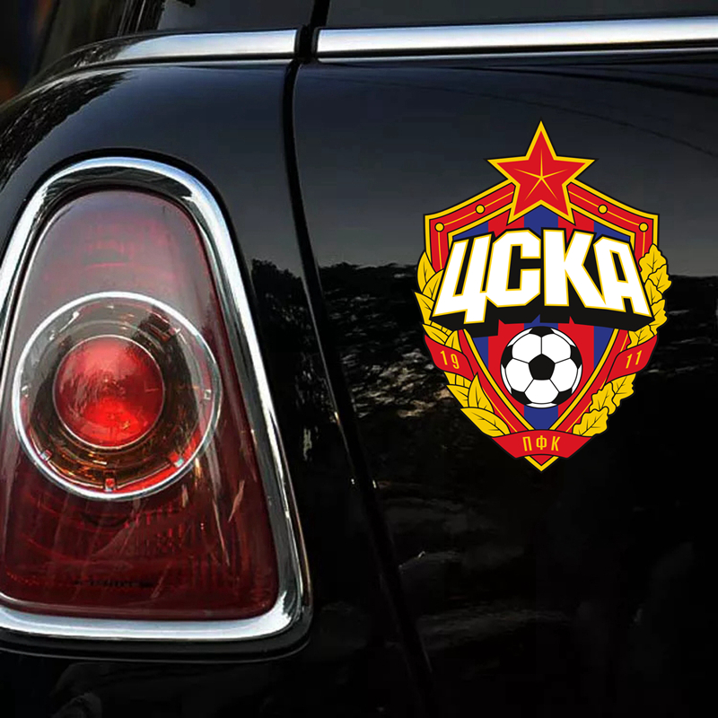 CS 1190 14 19cm Moscow CSKA funny car sticker vinyl decal printed PVC for auto car stickers styling in Car Stickers from Automobiles Motorcycles