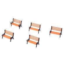 5 шт. модель поезд платформа парк уличные сиденья скамейка стул Settee 1: 50 масштаб Дворовые стулья железнодорожное моделирование