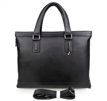 JMD Fashion Genuine Cow Leather Briefcase Men's Office Bag Top Handle Business Bag 7327