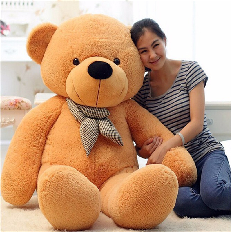 60/80/100/120cm Giant Big Cute Teddy Bear Plush Stuffed Toy, Kids Embrace Bear Christmas Gift Doll Toy fancytrader new style teddt bear toy 51 130cm big giant stuffed plush cute teddy bear valentine s day gift 4 colors ft90548