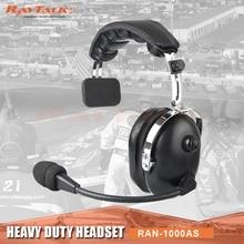 Один халява уха над головой Heavy Duty гарнитура с микрофоном Шум шумоподавления для двухстороннее радио