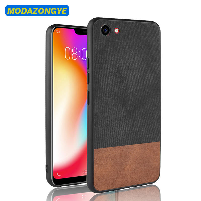 Vivo Y81 Case Vivo Y81 Cover PU Leather Hard PC Back Cover Phone Case Vivo Y81 Y 81 VivoY81 Case Silicone Edge Phone Cover 6.22