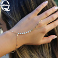 Joyería de la manera Simple de lentejuelas pulsera esclavo pulseras y brazaletes para las mujeres