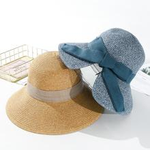 SUOGRY Women Beach Sun Hat 2019 Spring Summer New Hot Fashion Female Casual Bow Soft Straw Hats Caps