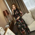 Ladies New Arrival Sexy Elegant Dress Fancy long-sleeve slim dress