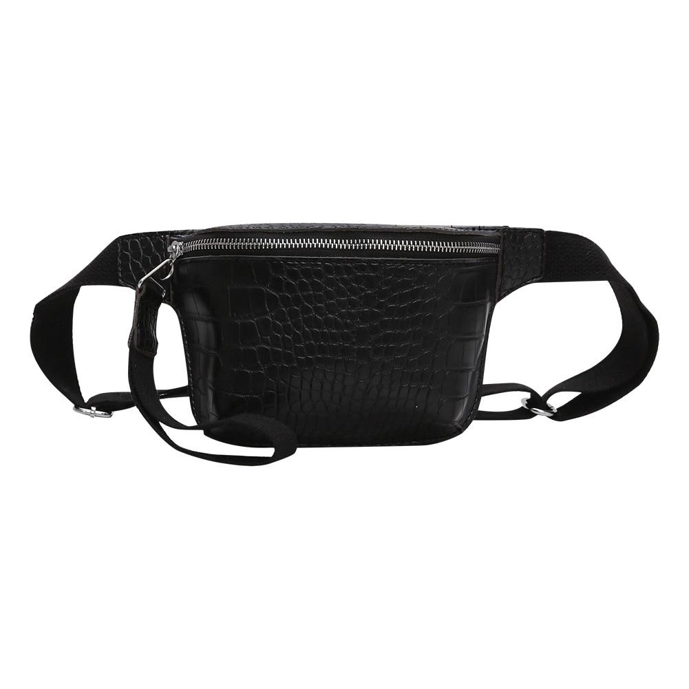 New Waist Bag Women Packs Bags Leather Belt Bag Fashion Stone Crocodile Multicolor Messenger Chest Bag Clutch Waist Fanny Pack