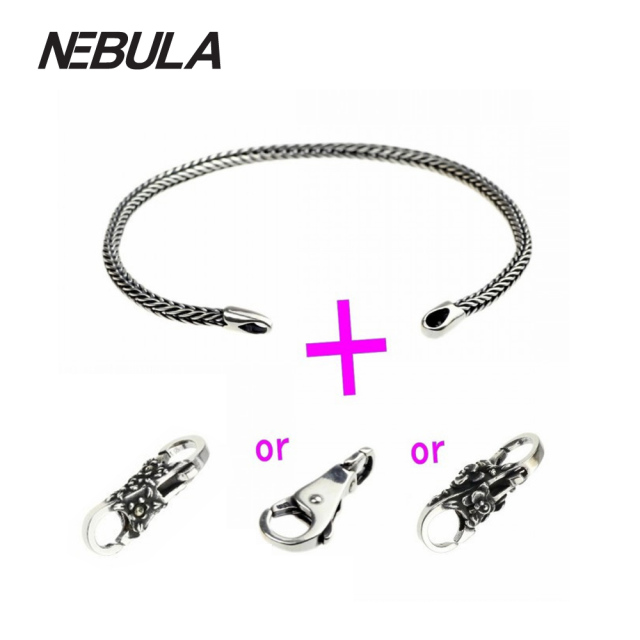 Genuine 925 Sterling Silver Bracelet Silver Bracelets or Locks Fit European Brand Troll 3mm Bracelet DIY Jewelry