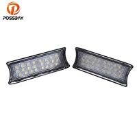 POSSBAY 24 LED Car Interior Lights Dome Light For BMW E90 E91 E93 White Auto Vanity