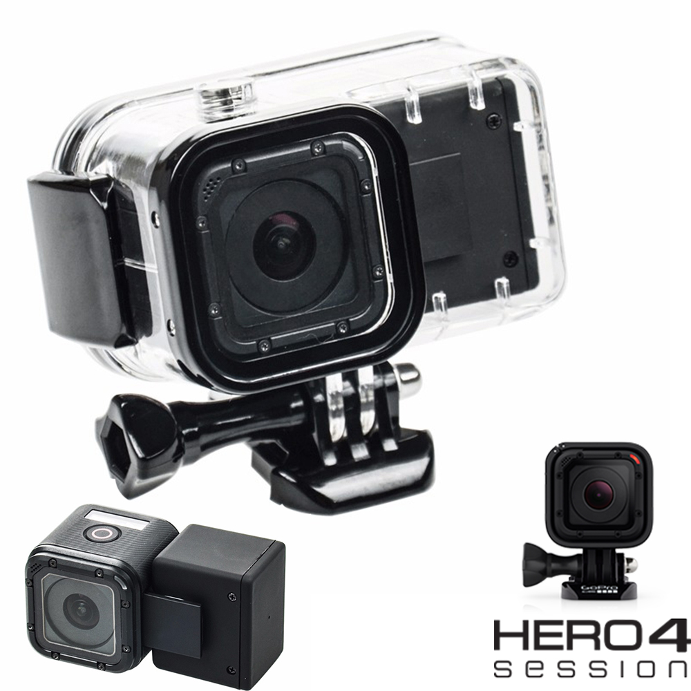 Gopro hero 4 session estensione impermeabile custodie + gopro hero4 session clip di batteria di sostegno esterna batterie per gopro 4 session