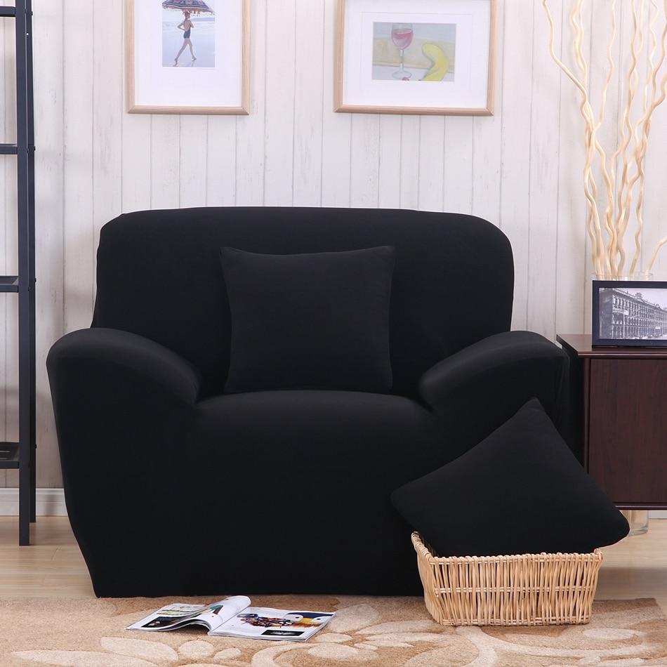 Wonderful Black Sofa Cover/fabric Cover Sofa Slipcover Stretch Fabric L Shaped Sofa  Cover Single Double