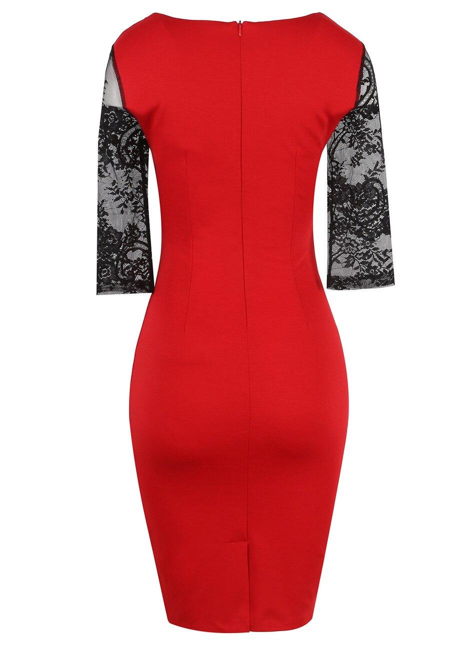 vitiana 2017 для женщин винтаж цветочный красный кружево вечернее платье элегантные старинные bodycon тонкий три четверти лоскутное костюмы