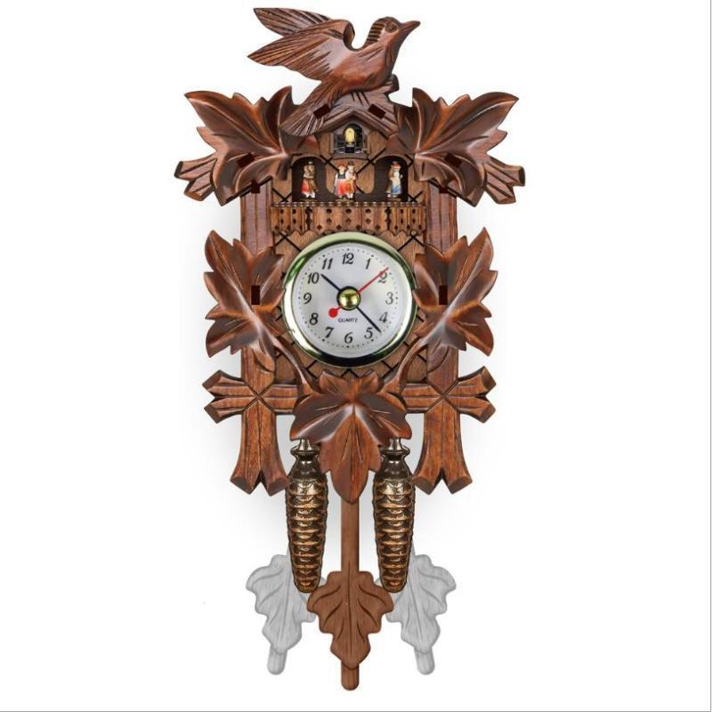 Sensational Us 13 08 32 Off Living Room Pendulum Clock Craft Art Clock For New House Et Vintage Home Decorative Bird Wall Clock Hanging Wood Cuckoo Clock In Download Free Architecture Designs Rallybritishbridgeorg