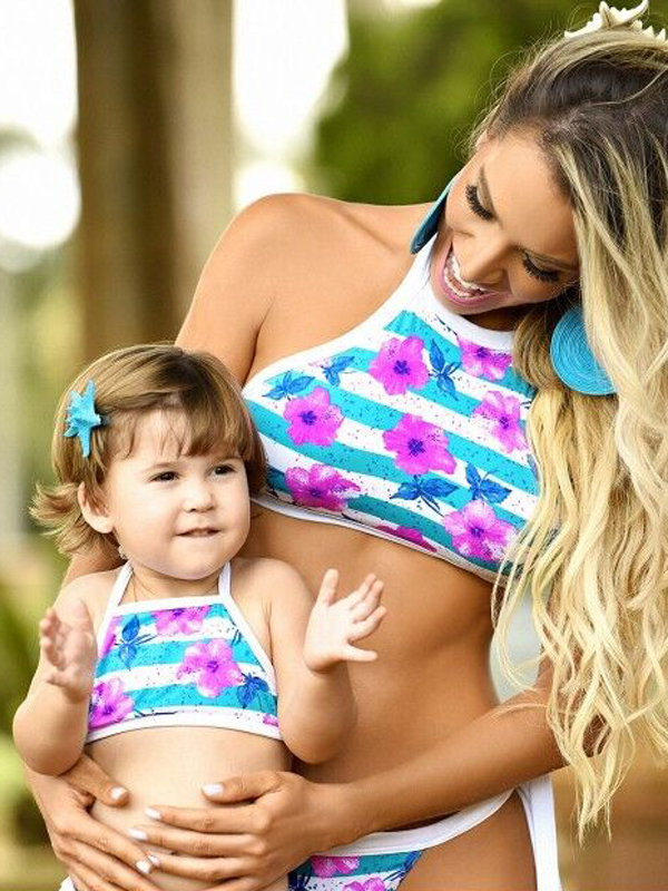 Mother Daughter Matching Bikini Swimwear