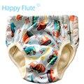 Happyflute grandes pantalones de entrenamiento para el niño con el borde de encaje, pul, terry bambú inserto interior con cosido, para 2-5 años de edad del bebé