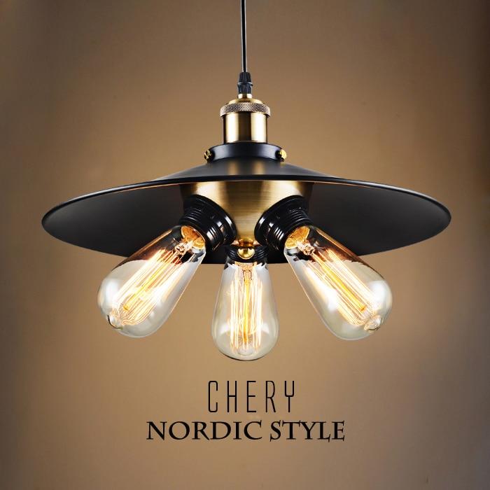 American style Umbrella grid pendant lamp E27 Lighting Loft modern lighting illumination ...