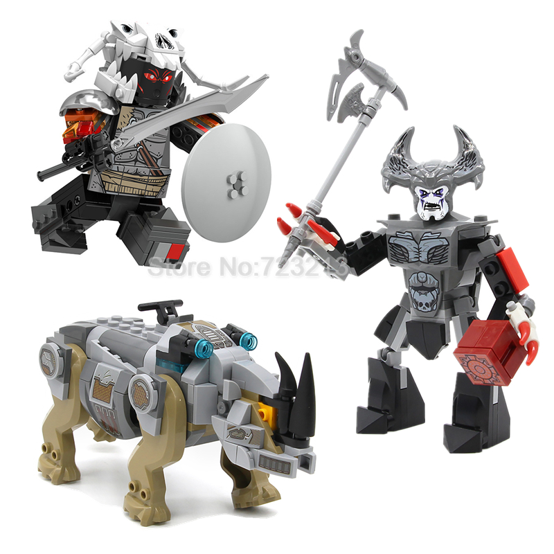 Marvel Super Hero Single Sale Figure Set Rhino Stepenwolf Ares Compatible Legoingly Building Blocks Sets Models Bricks Toys single sale band figure john winston lennon paul mccartney george harrison ringo starr building blocks models toys