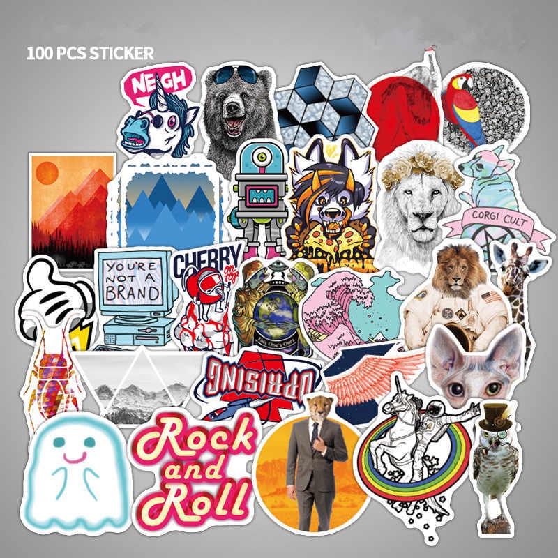 100 Stücke Mixed Anime Aufkleber Film Graffiti-wand Aufkleber Kind Diy Skateboard Laptop Gepäck Telefon Auto Fahrrad Wasserdichte Aufkleber