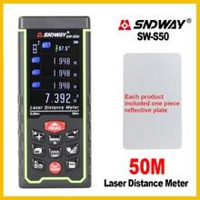 Sndway  USB Recharge Portable Colorful Screen Digital Laser Distance Meter Range Finder Rangefinder SW-S50/70/100