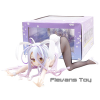 Bunny Girls Shiro NO GAME NO LIFE GAME LIFE White 3 Generation Poker Action Toy Figures Japanese Anime Collectible Figurines