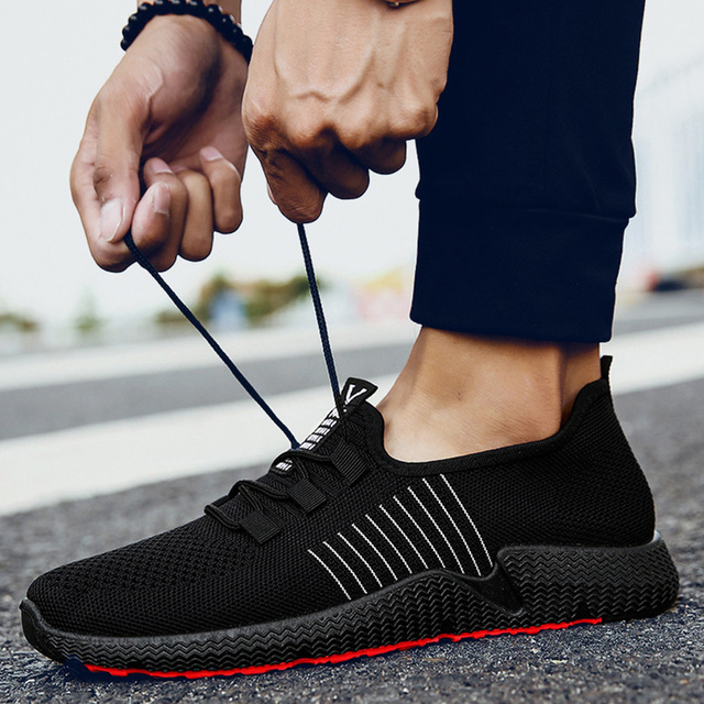 Mesh Breathable Shoes Men Sneakers Tennis Trainers Men Casual Shoes Summer Fashion Sneakers For Men Shoes Slip On Male Footwear