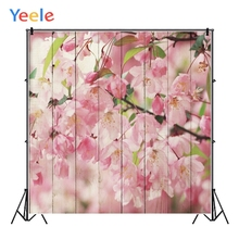 Yeele Beautiful Flowers Pattern Photographic Backdrops Planks Wooden Board Personalized Photography Backgrounds For Photo Studio