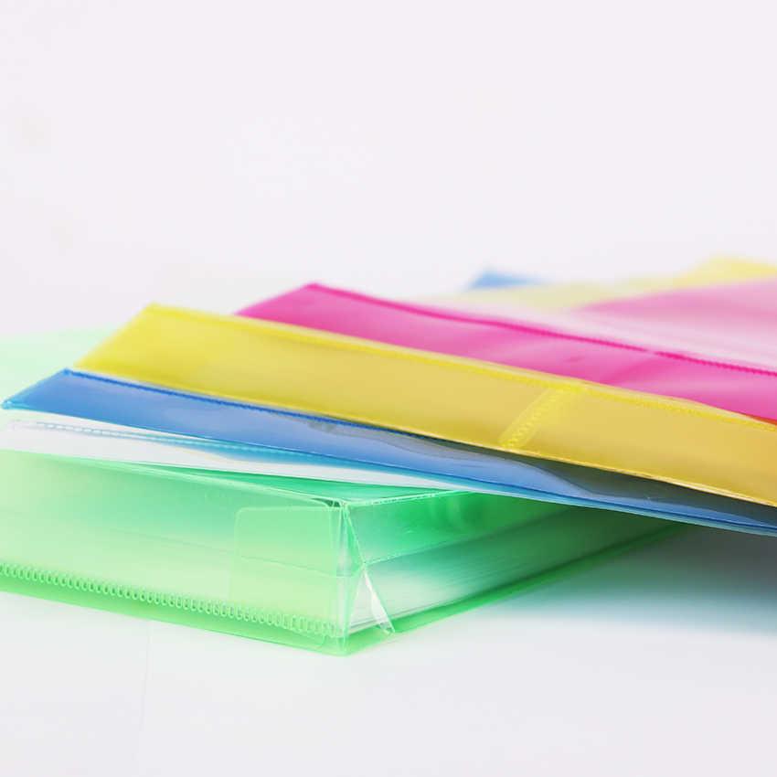 1 MÁY TÍNH Đơn Giản Màu Nhựa Trong Suốt A4 Tài Liệu Dữ Liệu Kinh Doanh Lưu Trữ Tập Tin Túi Thư Mục để Giấy Tờ Văn Phòng Phẩm