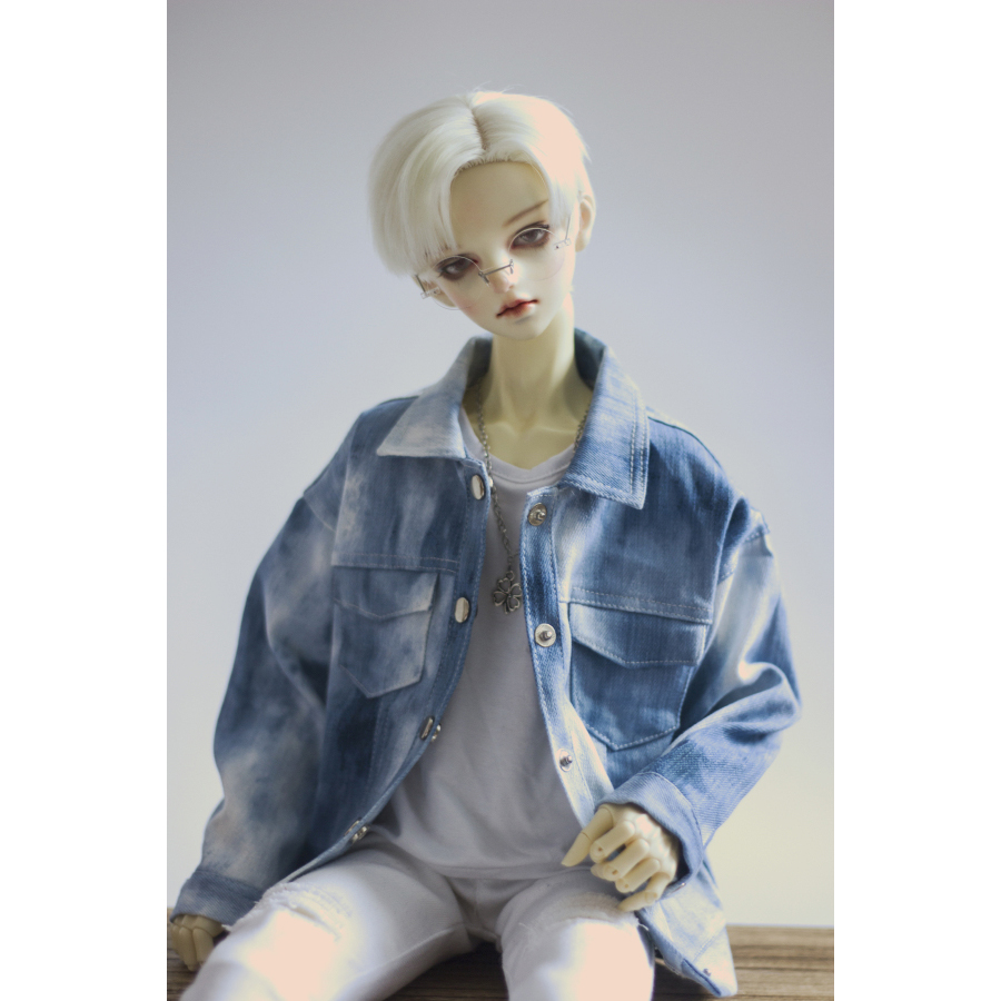 Blue Jacket  Jeans Coat Sports Outfits Top Clothing For 1/3 24