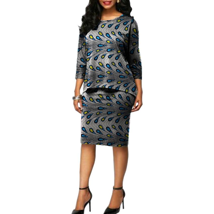 Ankara set vêtements pour dame imprimer chemises avec jupes 2 pièces imprimé africain femmes tenues personnalisées tenues de mariage