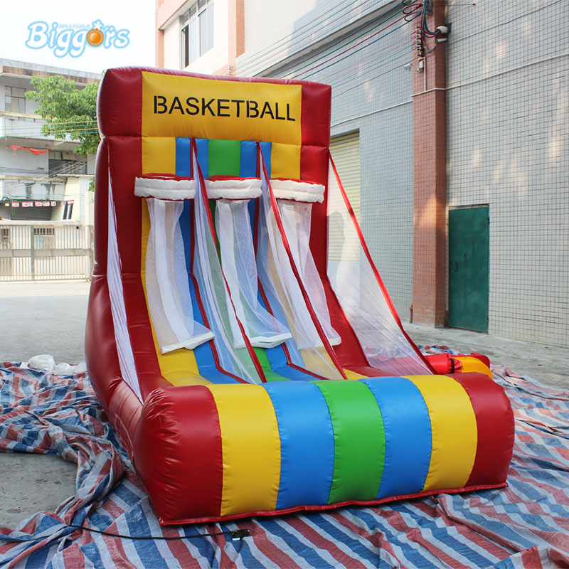 Portable Kids Indoor Or Outdoor Inflatable Basketball Hoop With Air Blower