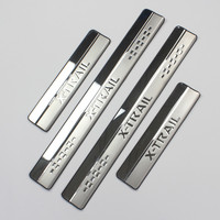Stainless Steel Door Sill Scuff Plate For 2014 2015 Nissan X Trail X Trail XTrail T32