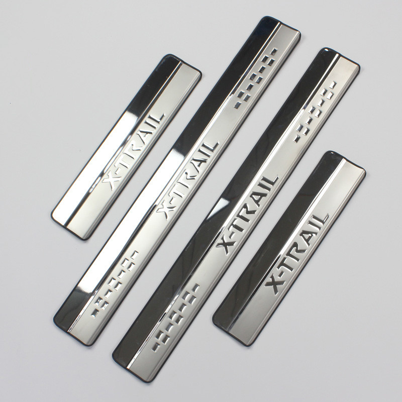 Stainless Steel Door Sill Scuff Plate for 2014 2015 font b Nissan b font X Trail