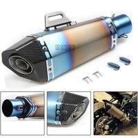 51 мм выхлопная труба мотоцикл Выхлопная измененная Муфельная выхлопная труба хвост из нержавеющей стали для Honda CRF 450 CR CRF CRM XR XL 85 125