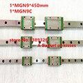Бесплатная доставка 9 мм Линейная Направляющая MGN9 L = 450 мм линейные железнодорожные пути + MGN9C или MGN9H Длинные линейные перевозки для ЧПУ Xyz Оси