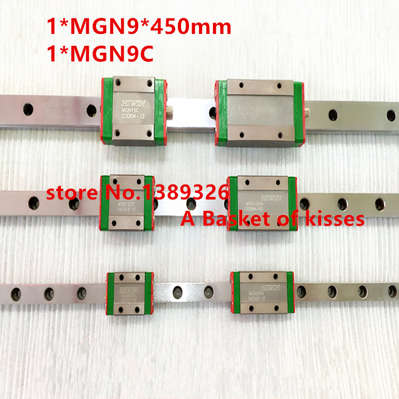 Free shipping 9mm Linear Guide MGN9 L= 450mm linear rail way + MGN9C or MGN9H Long linear carriage for CNC X Y Z Axis free shipping 5pcs lot q0465r to220 6 offen use laptop p 100% new original