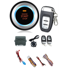 Car Start Push Button Remote C3 Alarm System Security Audible alarm Ignition Engine  Free Shipping