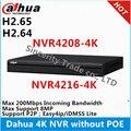 Dahua Original Inglês versão 4 K 8ch 16ch NVR 32ch 1U Network Video Recorder NVR4208-4K NVR4216-4K NVR4232-4K sem portas PoE