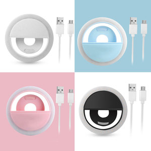 Image 5 - 2019 New Portable Selfie LED Flash Ring Light USB Charge Luminous Photography Ring Lights Enhancing Photography for Smartphone