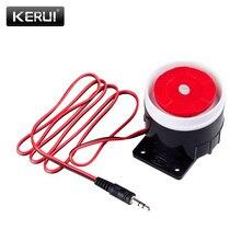 Kerui mini sirene com fio, buzina para sistema de segurança residencial, sem fio, 120 db