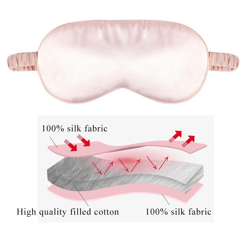 Natural Silk Sleeping Eye Mask Super Smooth Cover Eyeshade Portable Travel Blindfold Upscale Breathable Eyepatch Soft Bandage 4