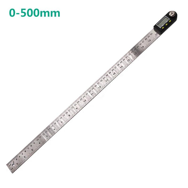 360 grados 200/300/500mm ángulo de acero inoxidable regla transportador Digital inclinómetro goniómetro nivel herramienta de medición
