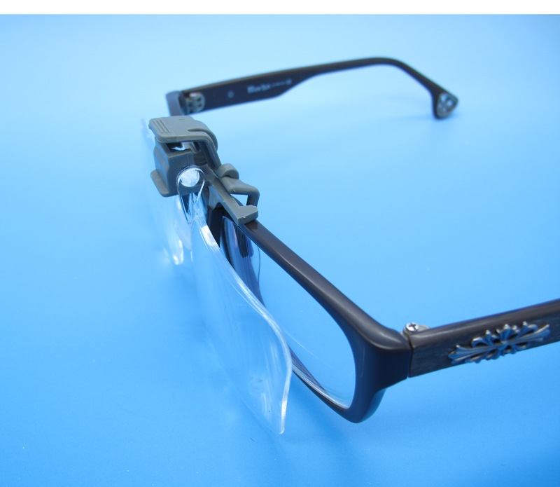 KIKAR Clip 'n' Flip (2x Power / +4.00 Diopters) Clip on Flip Up Plastic Power Magnifying Glass - Fit All Specs G9iF6S