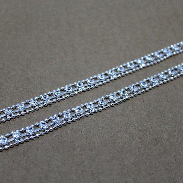 1 Pair Women Clothing Intimates Adjustable Metal Double Row Bra Straps Crystal Diamante Rhinestone Bra Shoulder Belt